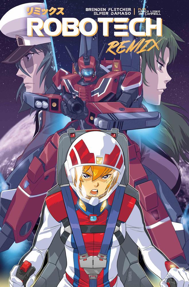 Robotech Remix #1 Cover B Variant Elmer Damaso Cover