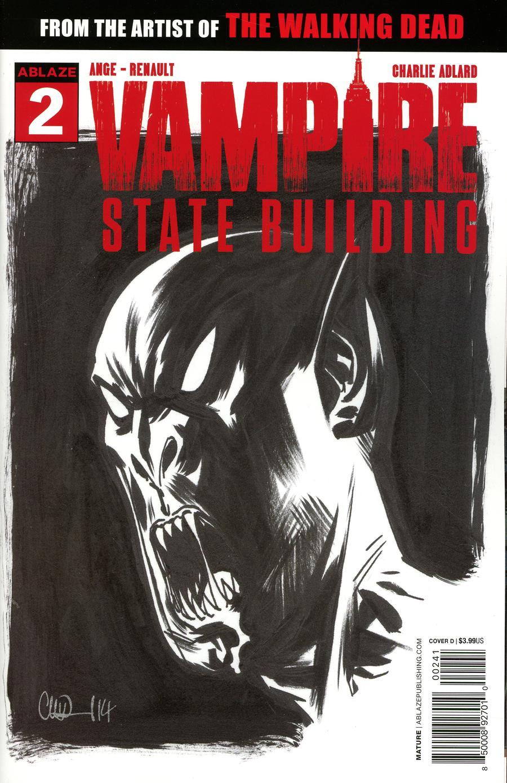Vampire State Building #2 Cover D Variant Charlie Adlard Sketch Cover