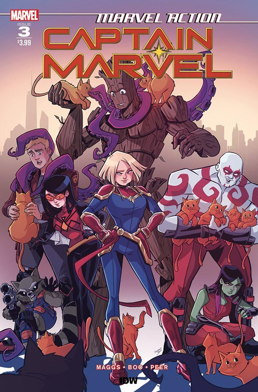 Marvel Action Captain Marvel #3 Cover A Regular Sweeney Boo Cover