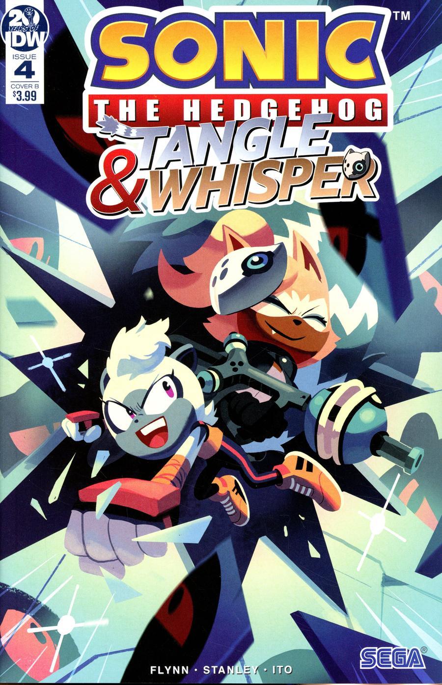 Sonic The Hedgehog Tangle Whisper 4 Cover B Variant Nathalie Fourdraine Cover Midtown Comics