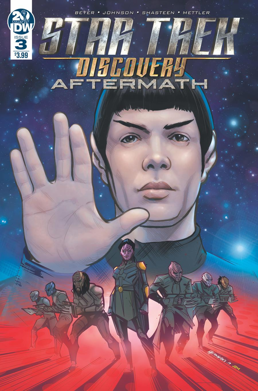 Star Trek Discovery Aftermath #3 Cover A Regular Angel Hernandez Cover