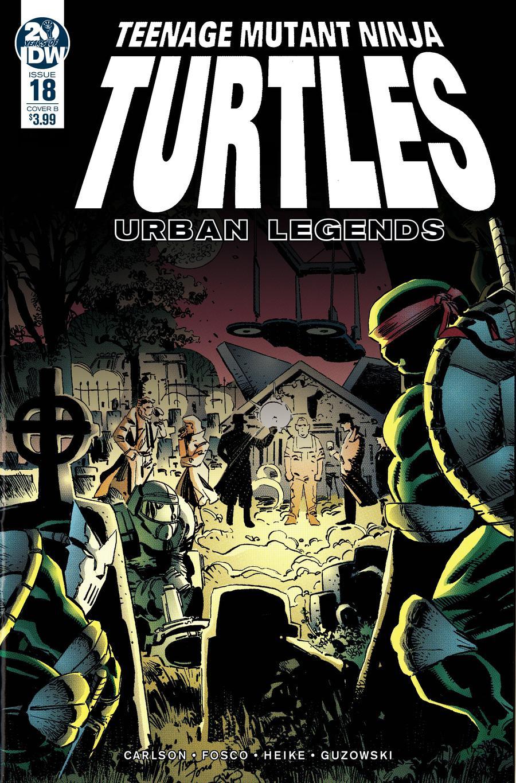 Teenage Mutant Ninja Turtles Urban Legends #18 Cover B Variant Frank Fosco & Erik Larsen Cover