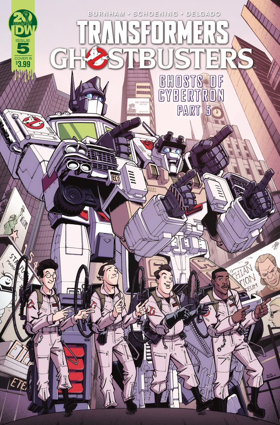 Transformers Ghostbusters #5 Cover B Variant Nick Roche Cover
