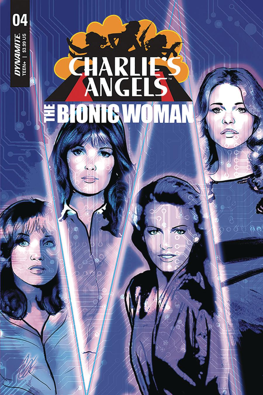 Charlies Angels vs The Bionic Woman #4 Cover A Regular Cat Staggs Cover