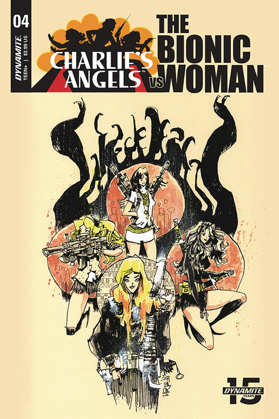 Charlies Angels vs The Bionic Woman #4 Cover B Variant Jim Mahfood Cover
