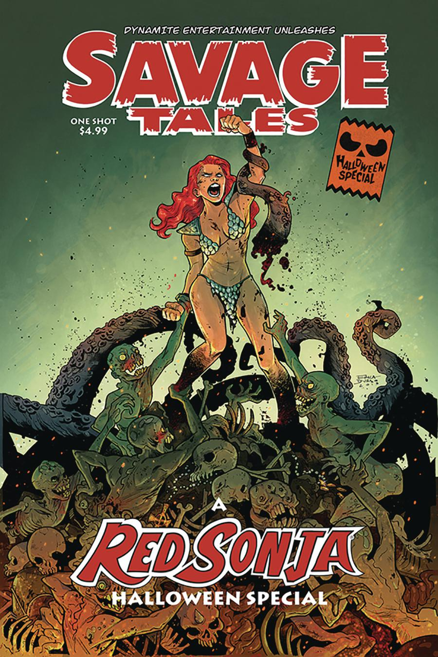 Savage Tales A Red Sonja Halloween Special One Shot Cover A Regular Erica Durso Cover