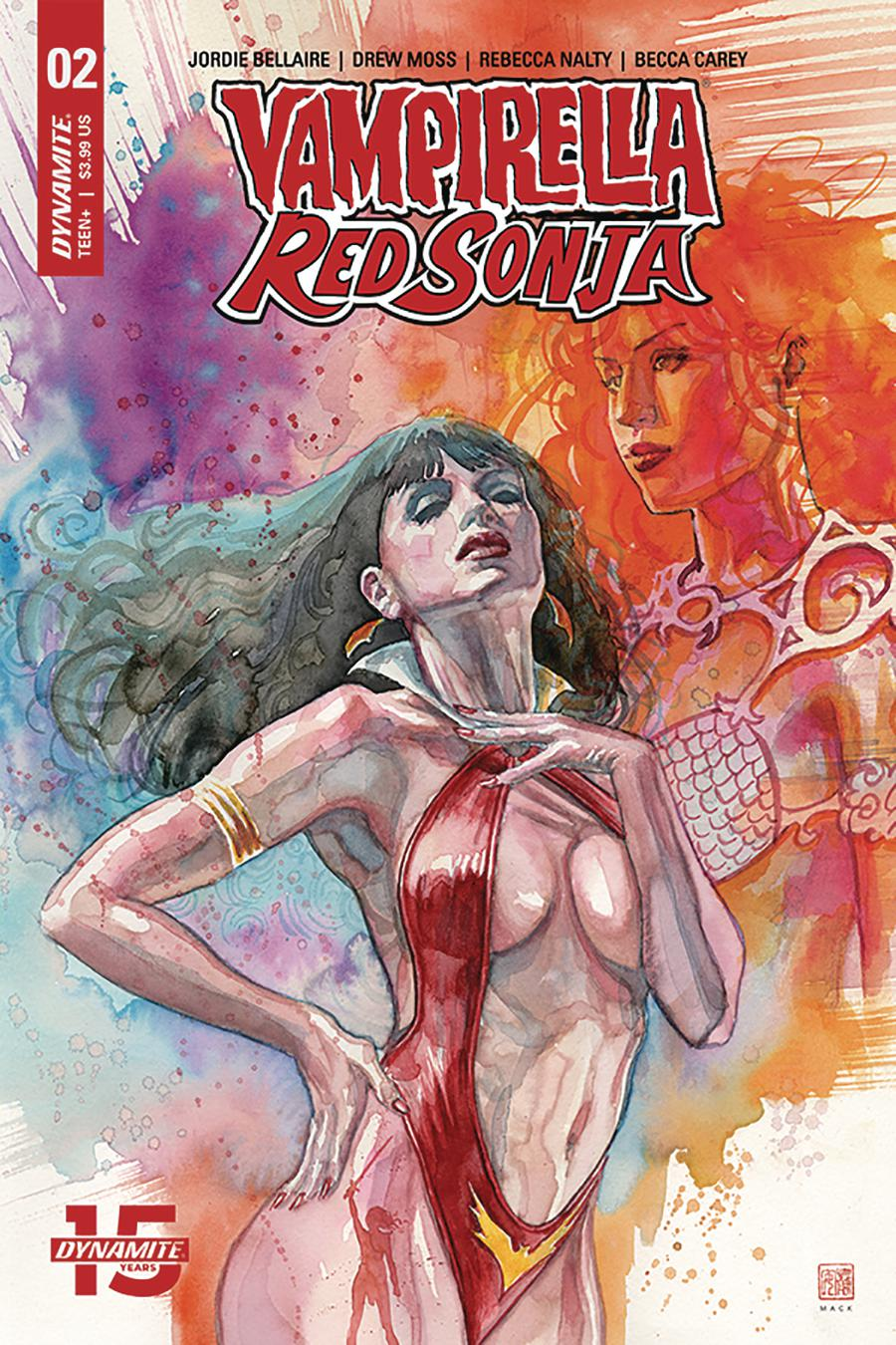 Vampirella Red Sonja #2 Cover B Variant David Mack Cover