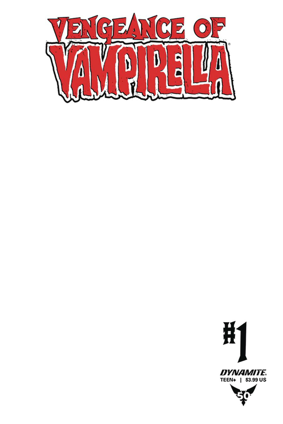 Vengeance Of Vampirella Vol 2 #1 Cover F Variant Blank Authentix Cover