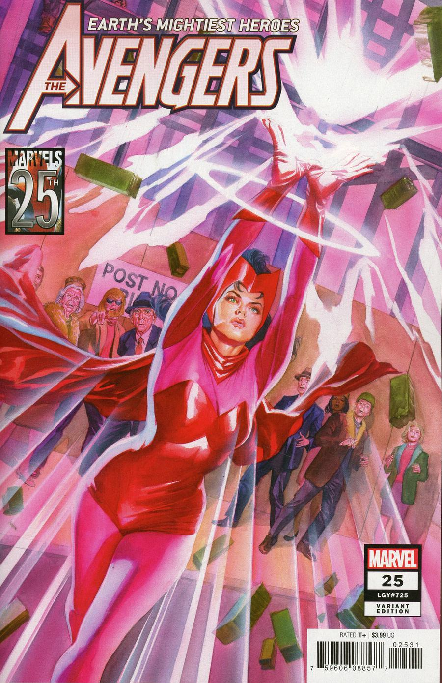 Avengers Vol 7 #25 Cover C Variant Alex Ross Marvels 25th Cover