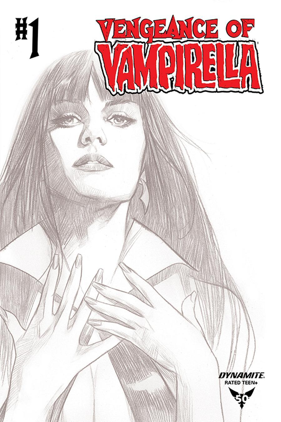 Vengeance Of Vampirella Vol 2 #1 Cover J Incentive Ben Oliver Black & White Cover