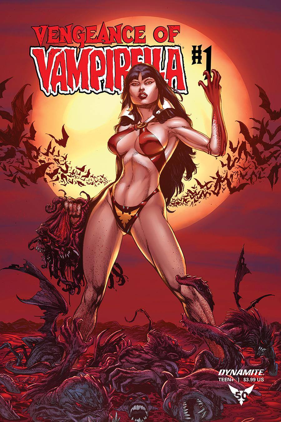 Vengeance Of Vampirella Vol 2 #1 Cover N Incentive Buzz Blood Moon Variant Cover