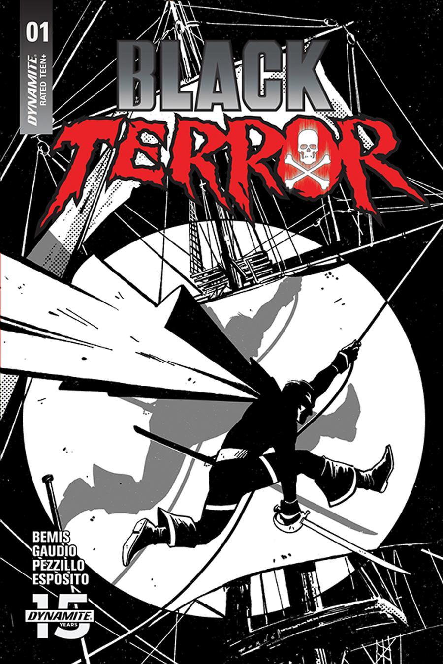Black Terror Vol 4 #1 Cover L Incentive Jorge Fornes Black & White Cover