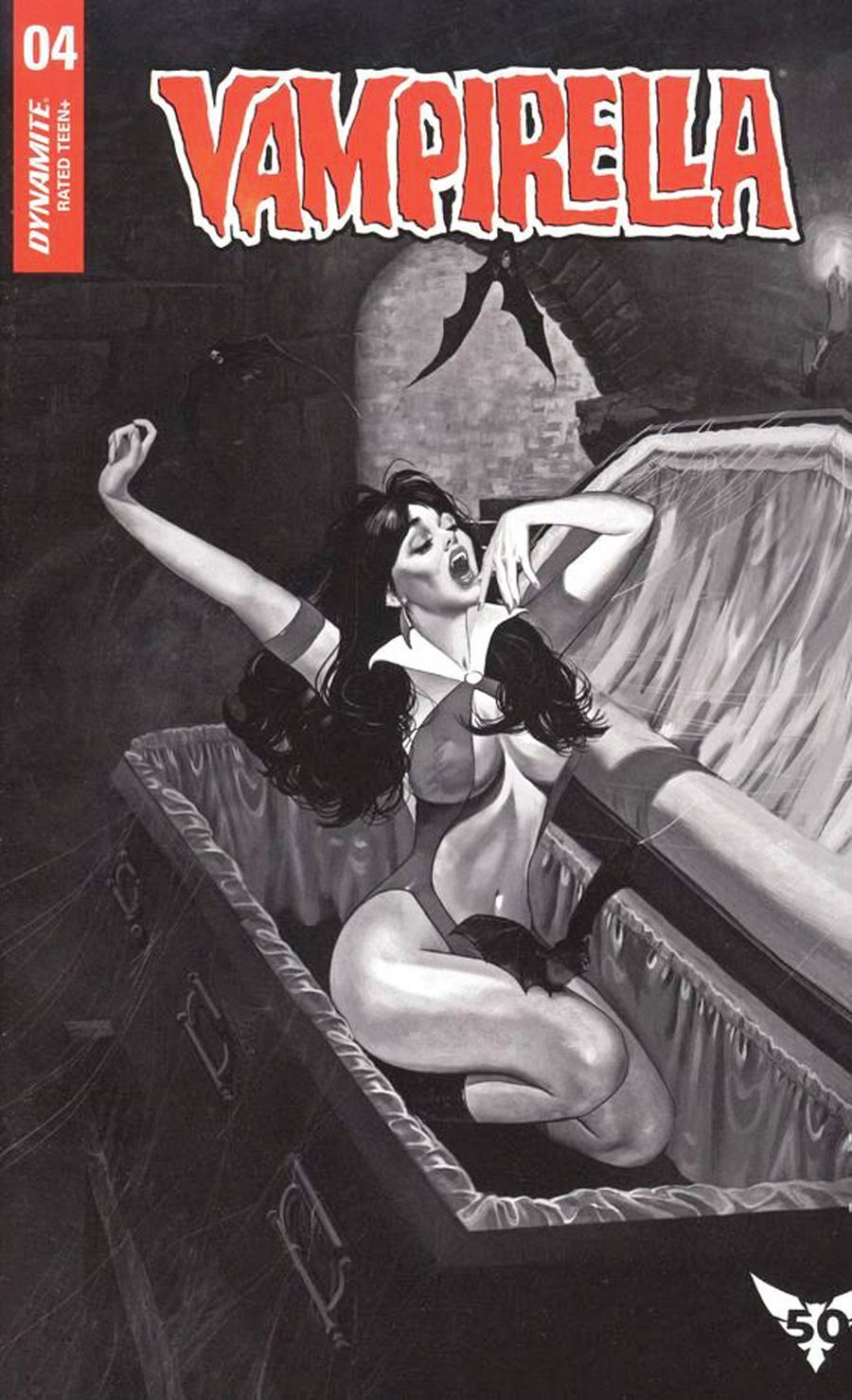 Vampirella Vol 8 #4 Cover I Incentive Fay Dalton Black & White Cover