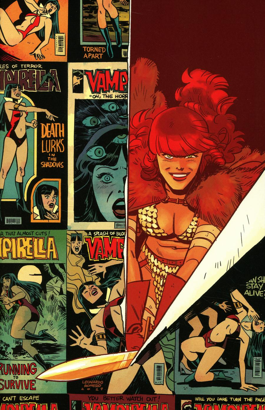 Vampirella Red Sonja #2 Cover I Incentive Leonardo Romero & Jordie Bellaire Color Virgin Cover