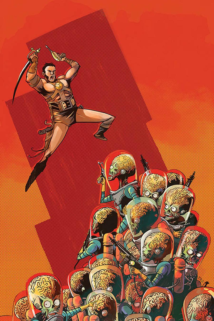 Warlord Of Mars Attacks #5 Cover G Incentive Sebastian Piriz Virgin Cover