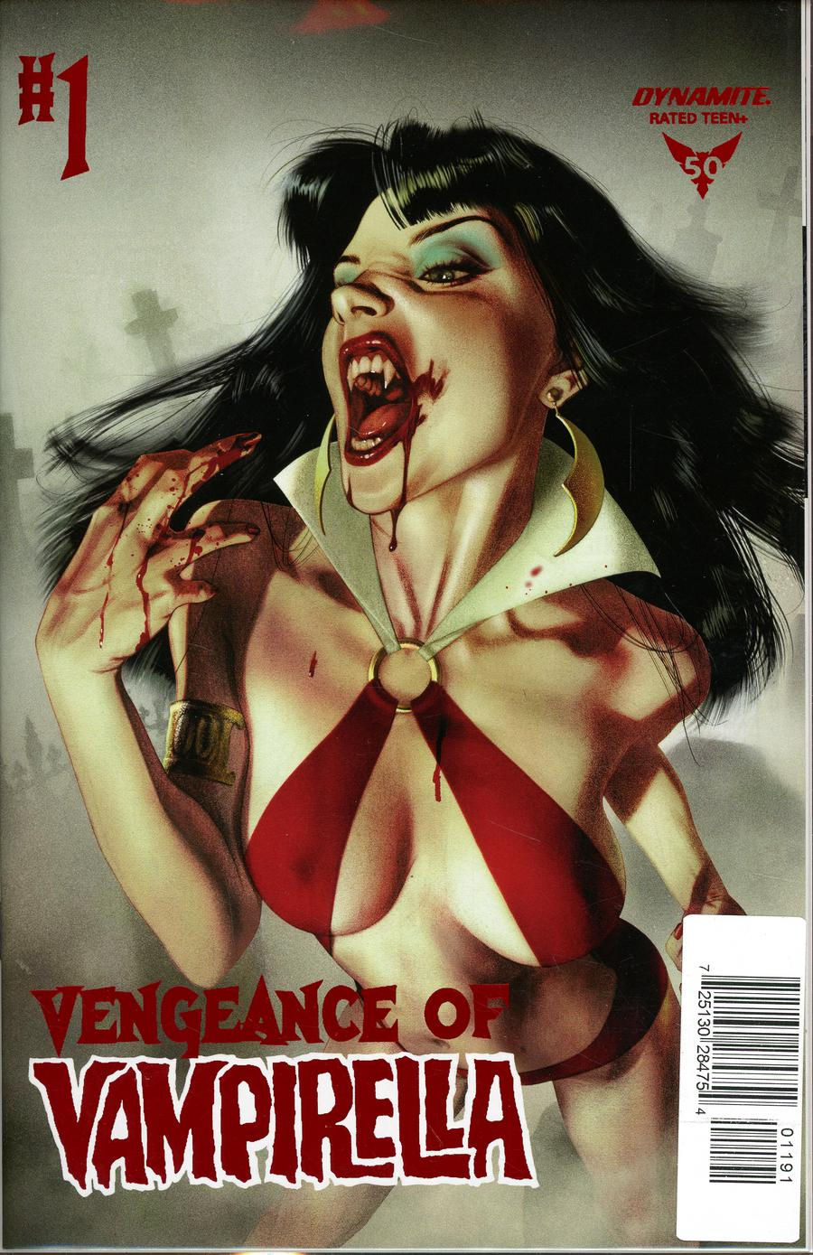 Vengeance Of Vampirella Vol 2 #1 Cover V Limited Edition Joshua Middleton High End Red Foil Cover