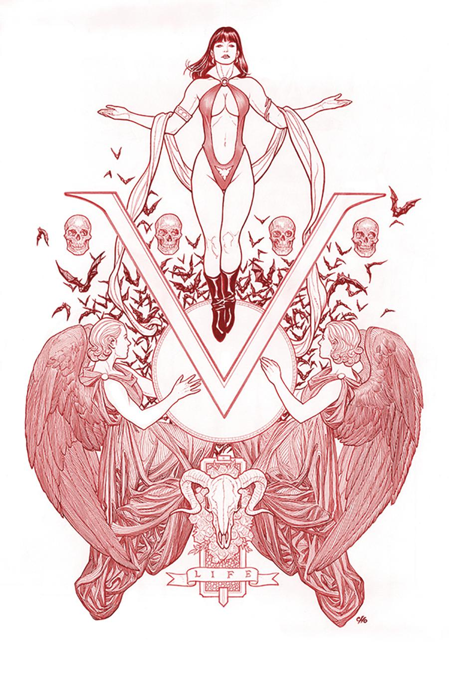 Vengeance Of Vampirella Vol 2 #1 Cover W Limited Edition Frank Cho Fiery Red Line Art Cover