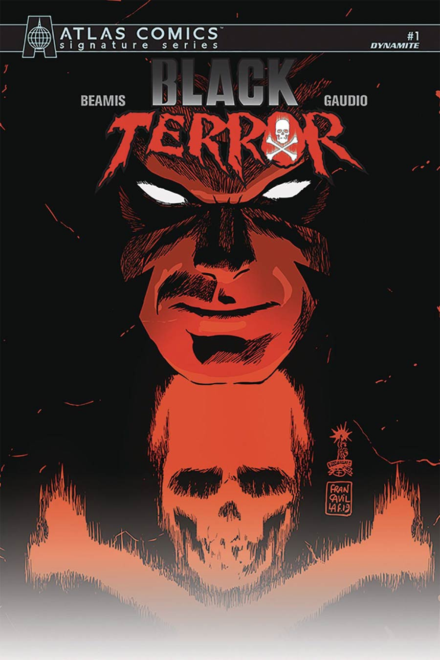 Black Terror Vol 4 #1 Cover M Atlas Comics Signature Series Signed By Max Bemis