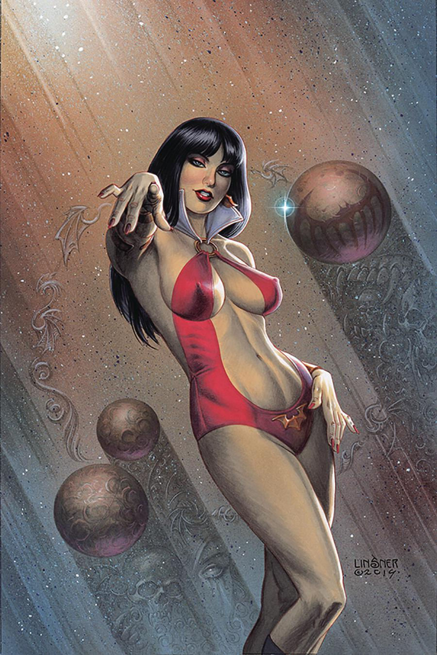 Vampirella Vol 8 #1 Cover Z-J Limited Edition Joseph Michael Linsner Exclusive Virgin Color Cover