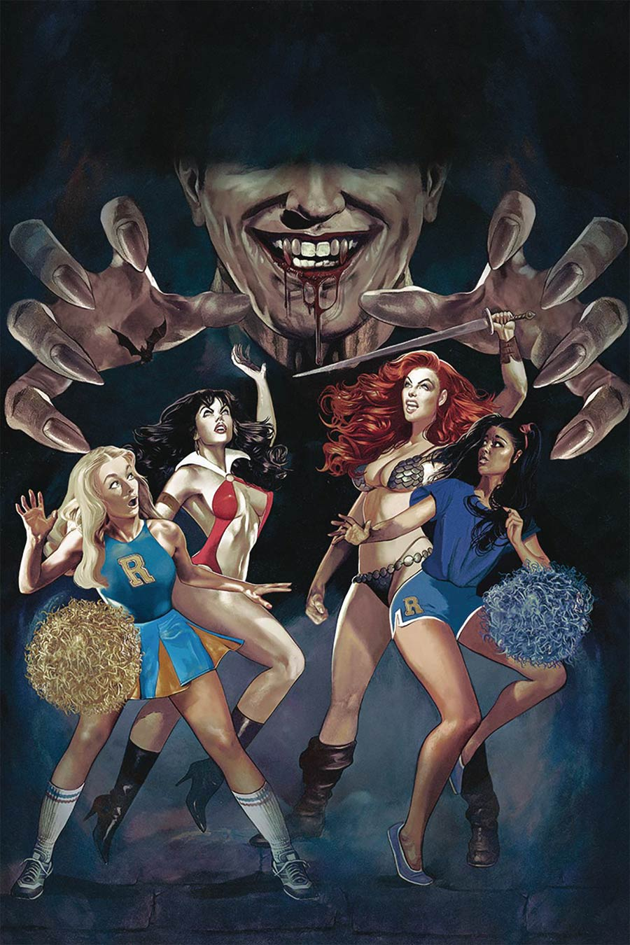 Red Sonja And Vampirella Meet Betty And Veronica #6 Cover N Limited Edition Fay Dalton High End Virgin Cover