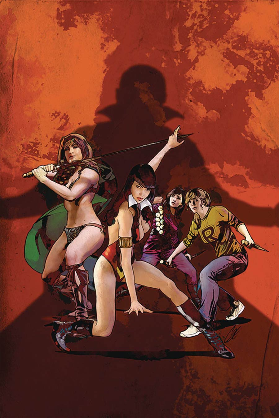 Red Sonja And Vampirella Meet Betty And Veronica #6 Cover O Limited Edition Cat Staggs High End Virgin Cover