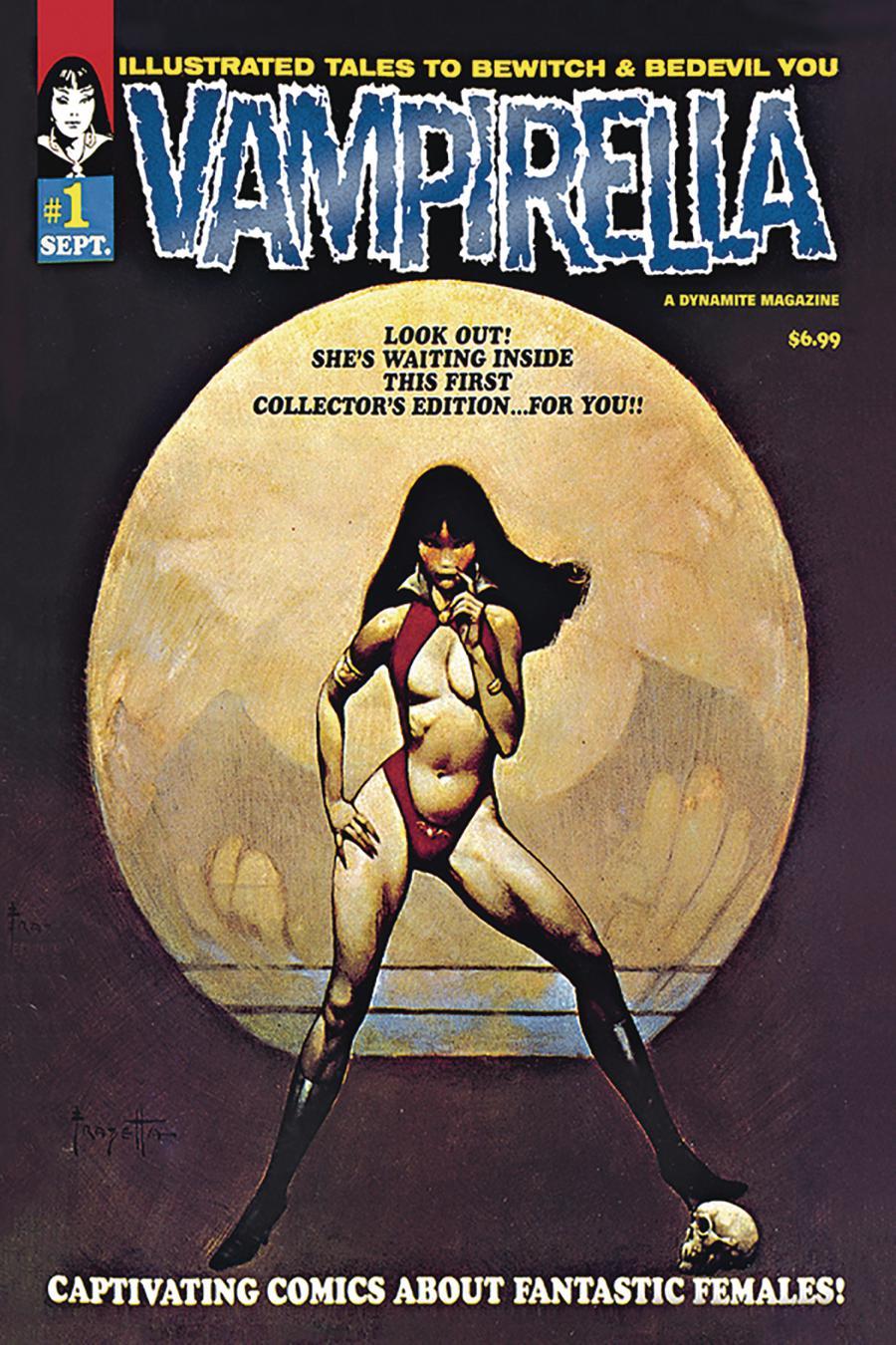 Vampirella Magazine #1 1969 Replica Edition Cover C Limited Blue Foil Cover