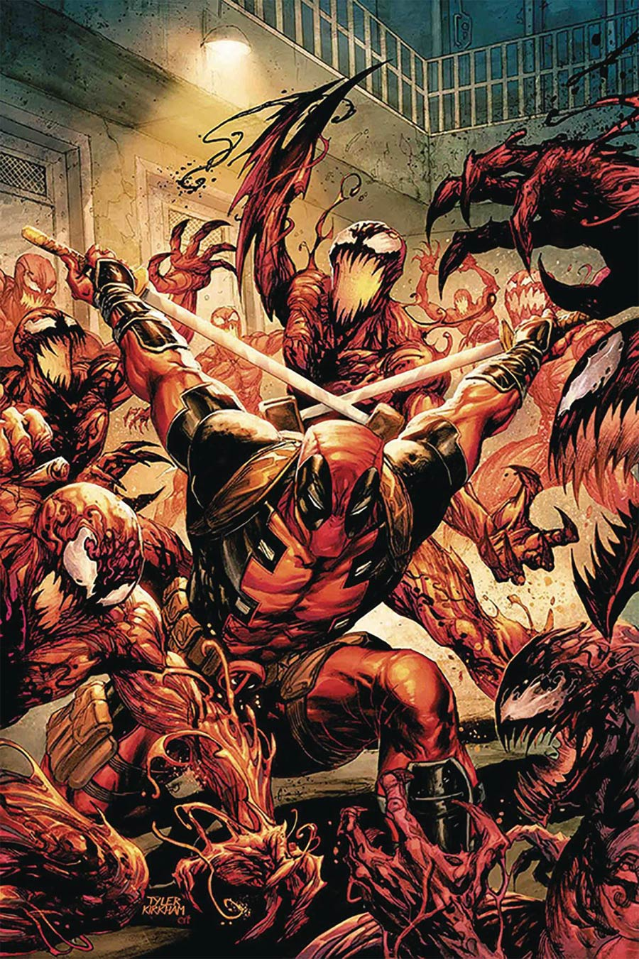 Absolute Carnage vs Deadpool #1 Cover G DF Signed By Frank Tieri