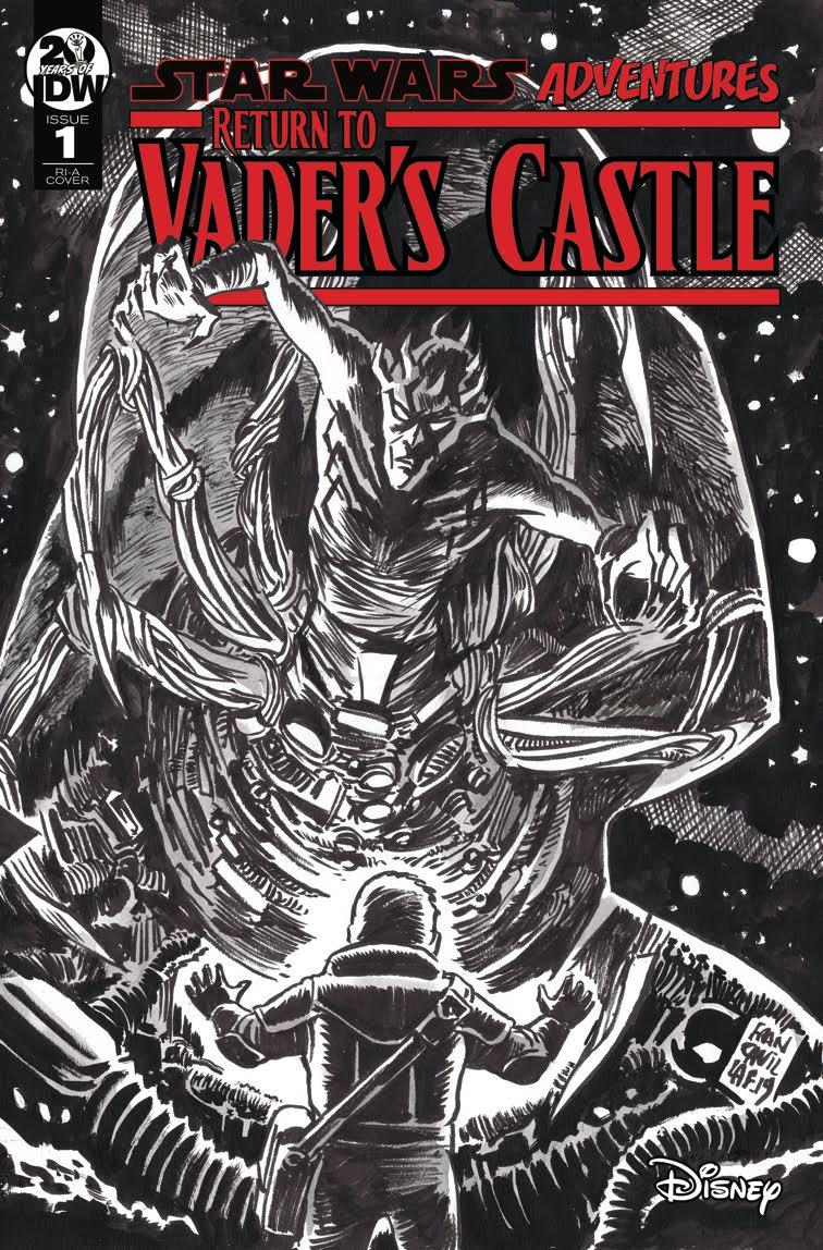 Star Wars Adventures Return To Vaders Castle #1 Cover C Incentive Francesco Francavilla Black & White Cover