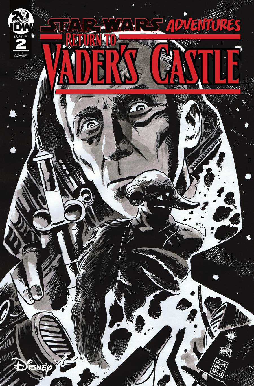 Star Wars Adventures Return To Vaders Castle #2 Cover C Incentive Francesco Francavilla Black & White Cover