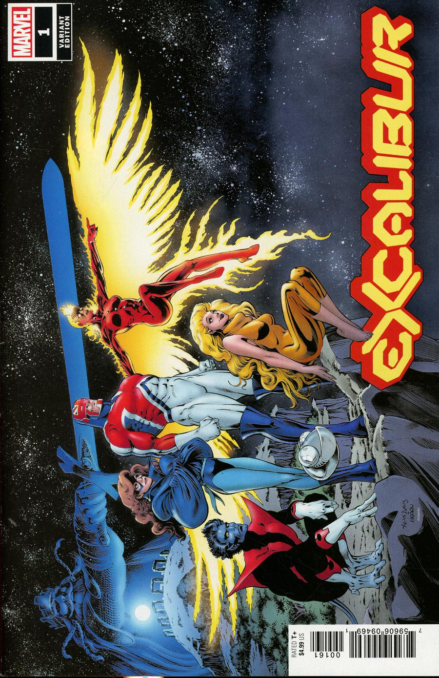 Excalibur Vol 4 #1 Cover G Incentive Alan Davis Hidden Gem Variant Cover (Dawn Of X Tie-In)