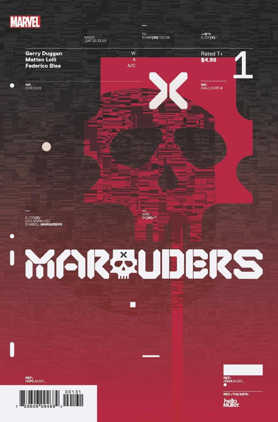 Marauders #1 Cover E Incentive Tom Muller Design Variant Cover (Dawn Of X Tie-In)