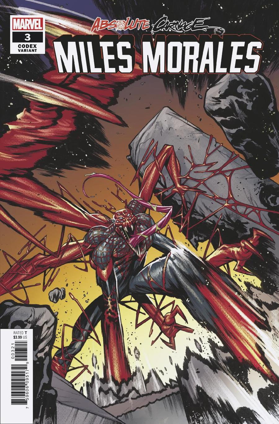 Absolute Carnage Miles Morales #3 Cover C Incentive Kim Jacinto Codex Variant Cover
