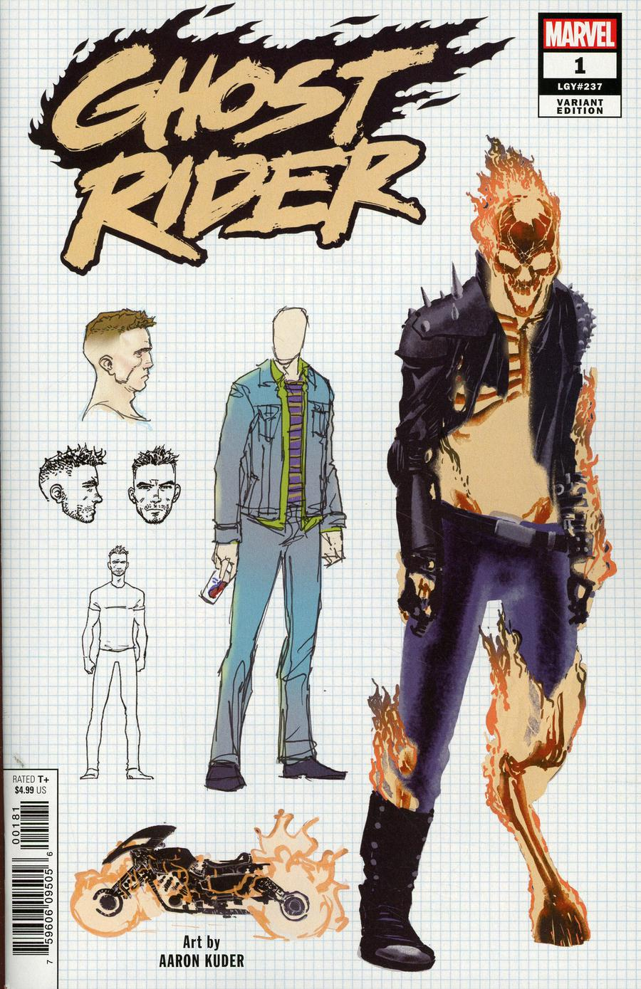 Ghost Rider Vol 8 #1 Cover F Incentive Aaron Kuder Design Variant Cover