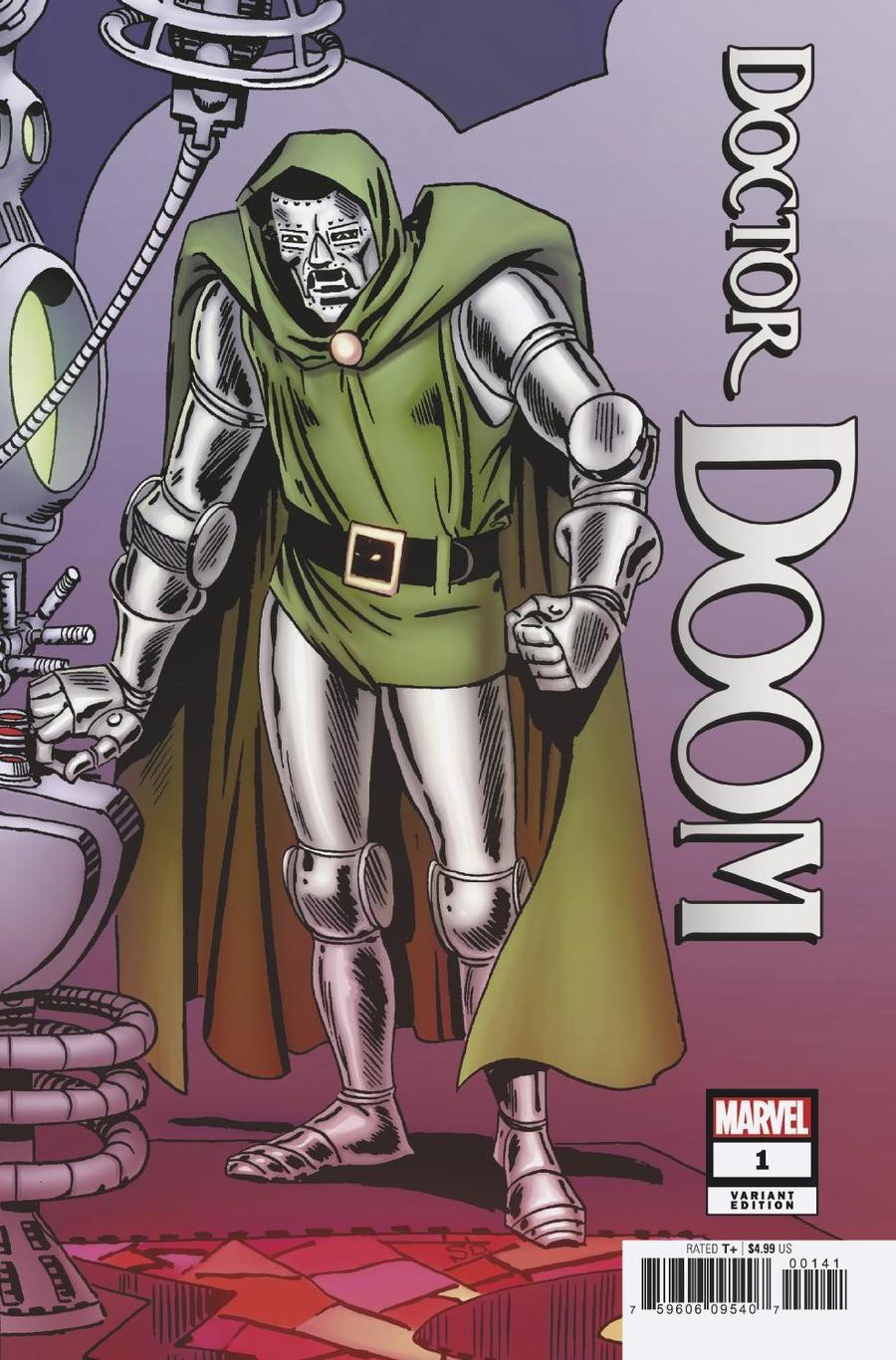 Doctor Doom #1 Cover F Incentive Steve Ditko Hidden Gem Variant Cover