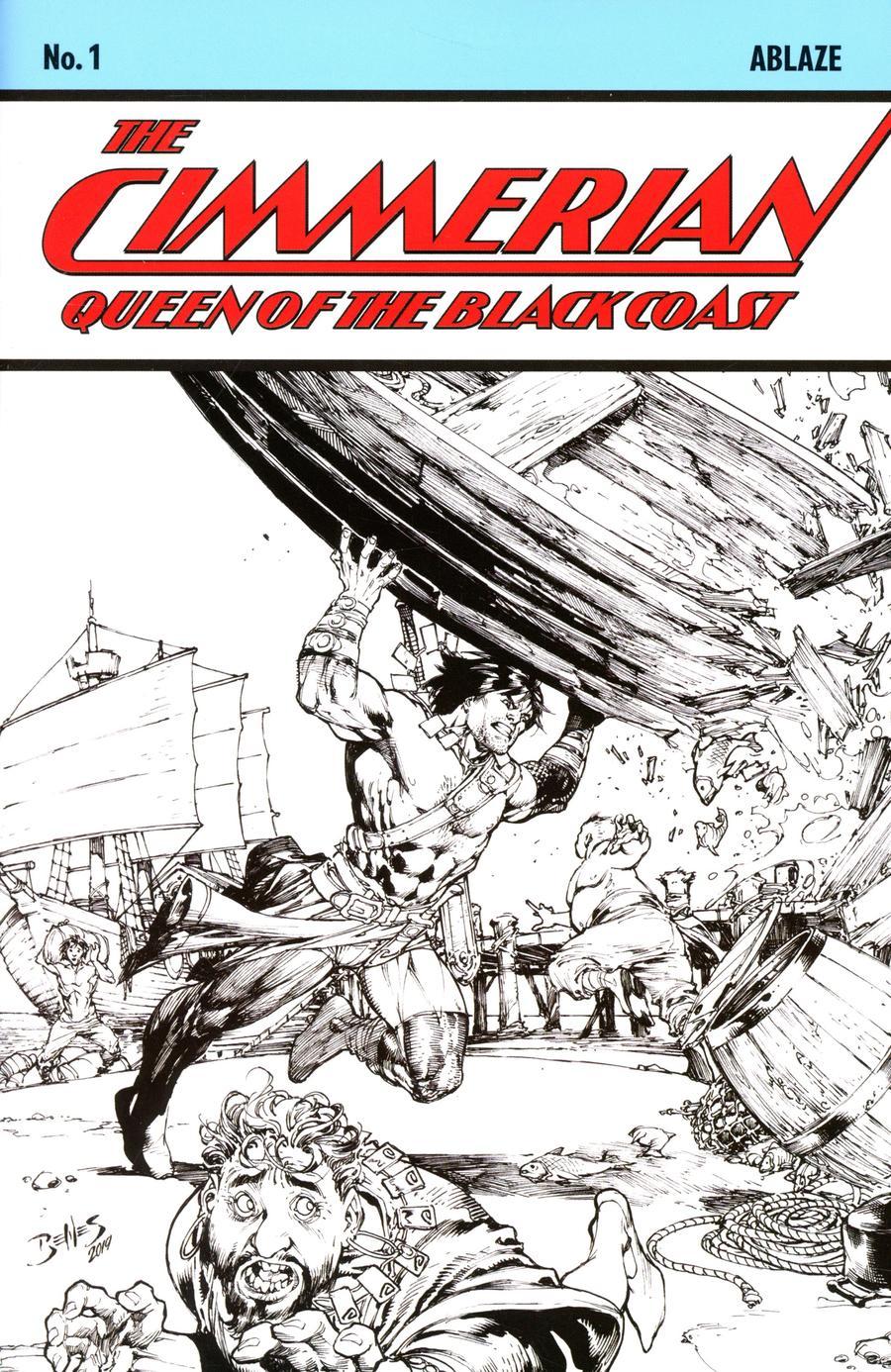 Cimmerian Queen Of The Black Coast #1 Cover E Incentive Ed Benes Sketch Cover