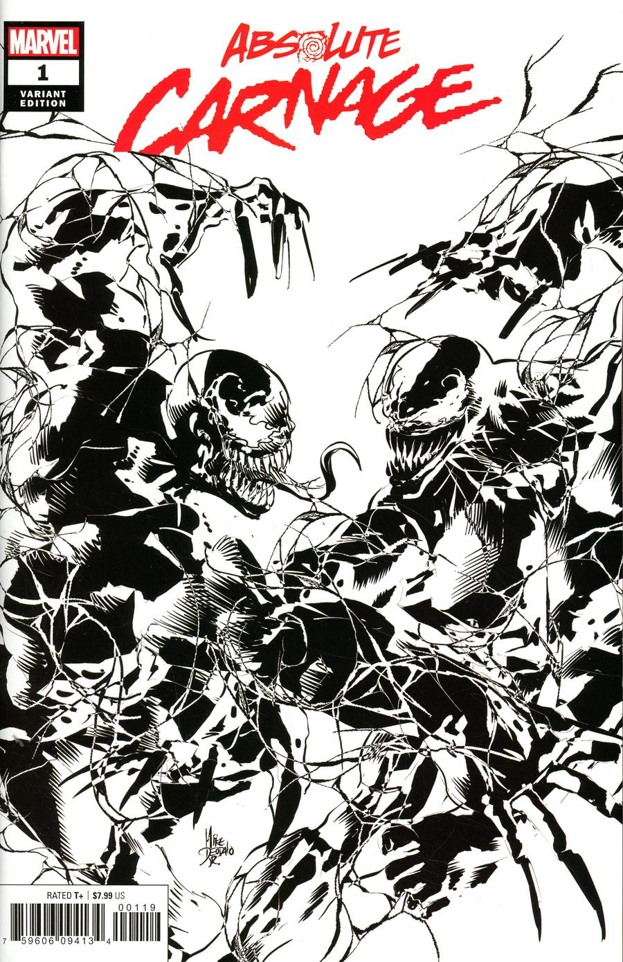Absolute Carnage #1 Cover O Incentive Mike Deodato Jr Party Sketch Cover