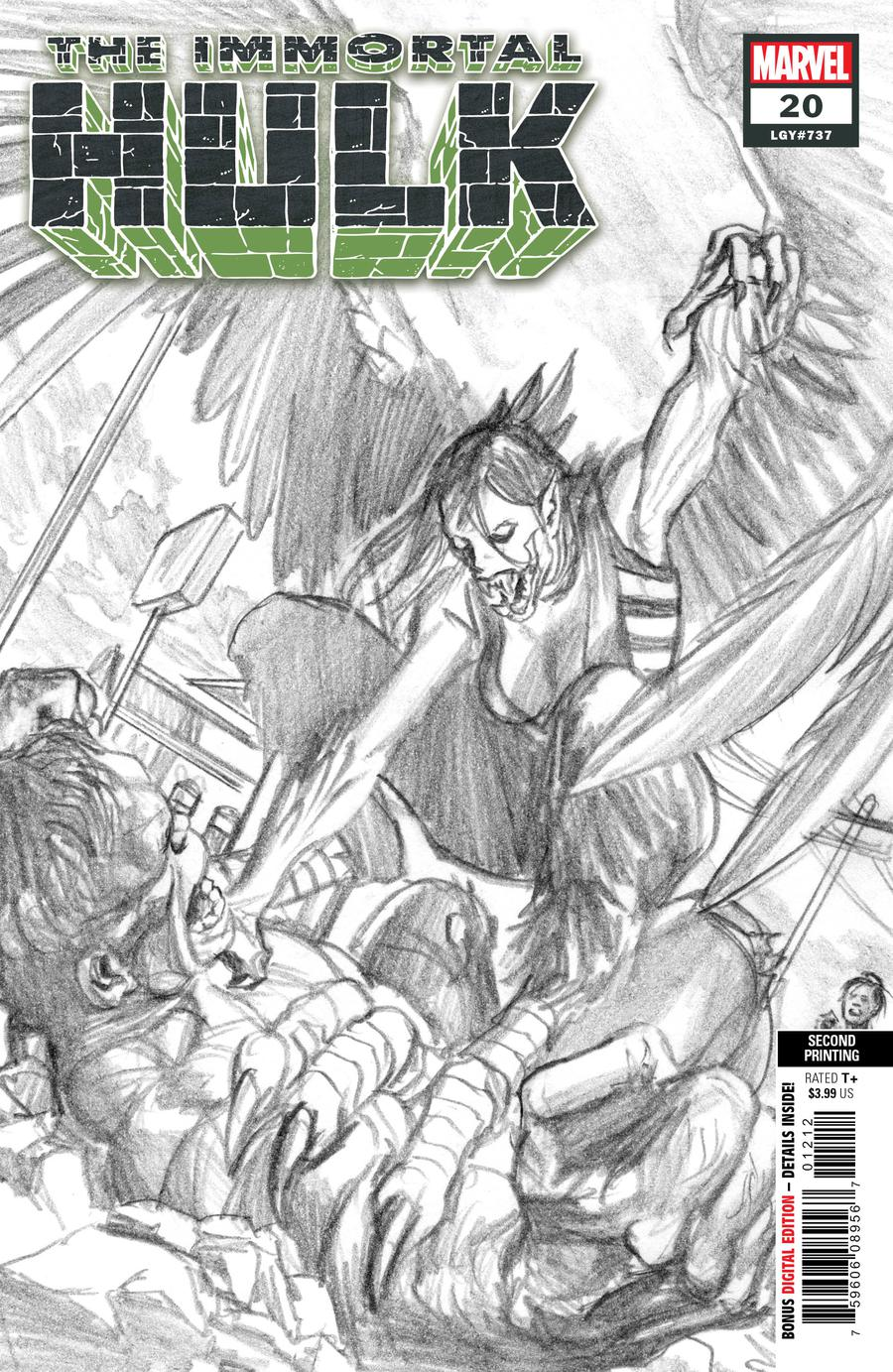 Immortal Hulk #20 Cover D 2nd Ptg Variant Alex Ross Cover