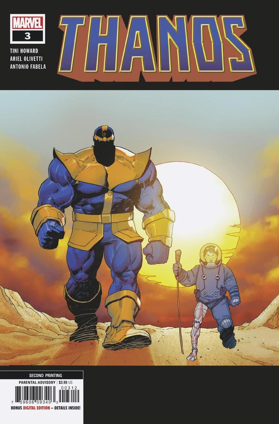 Thanos Vol 3 #3 Cover D 2nd Ptg Variant Ariel Olivetti Cover