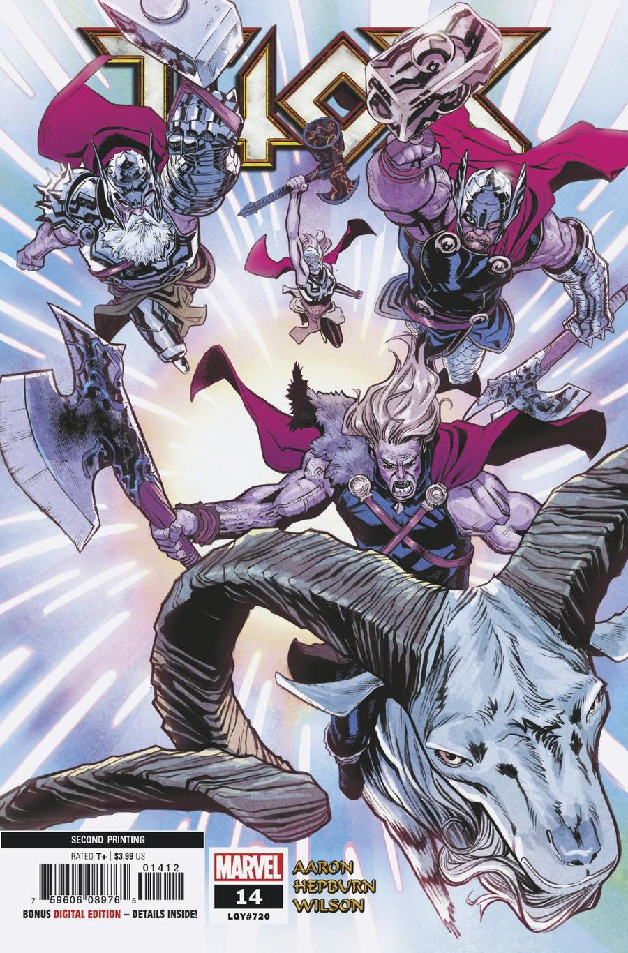 Thor Vol 5 #14 Cover C 2nd Ptg Variant Scott Hepburn Cover (War Of The Realms Tie-In)