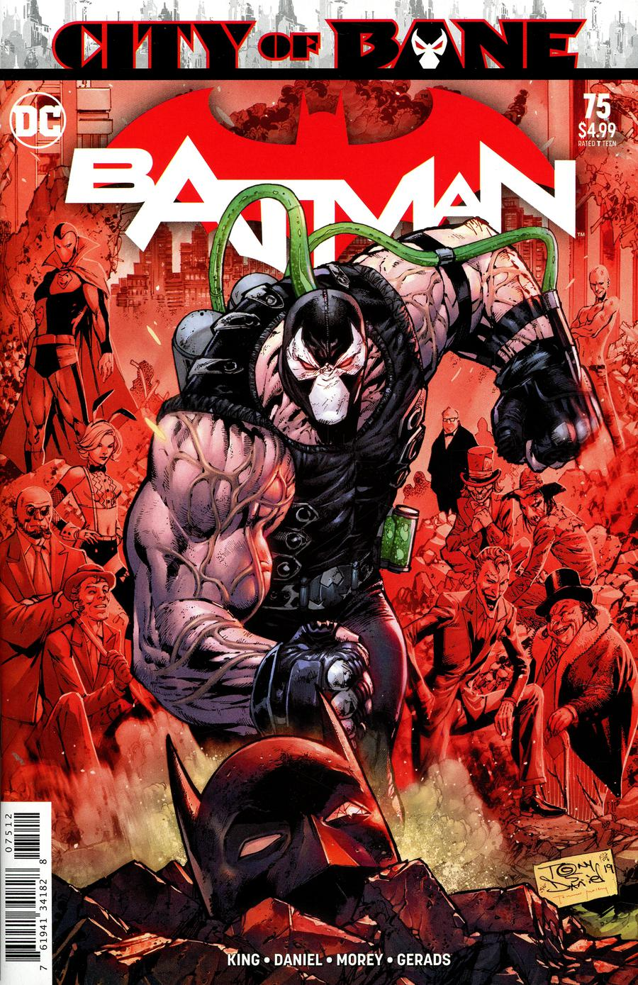 Batman Vol 3 #75 Cover G 2nd Ptg Variant Tony S Daniel Cover (Year Of The Villain The Offer Tie-In)