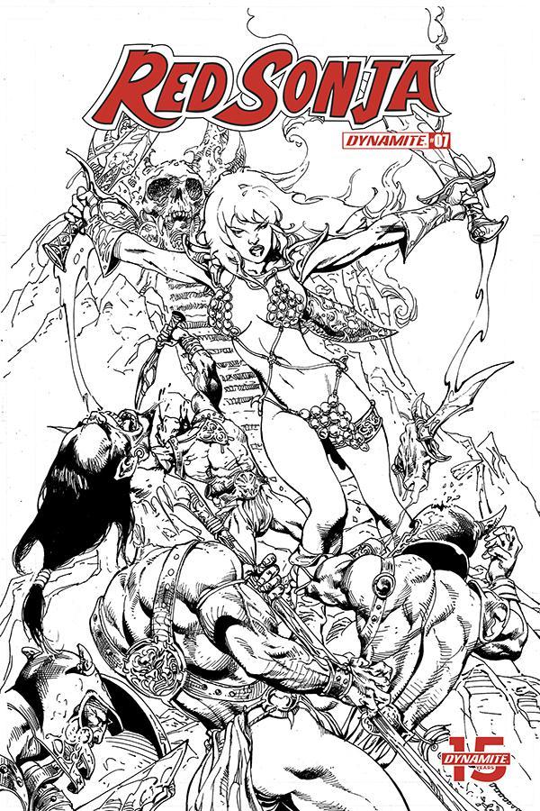 Red Sonja Vol 8 #7 Cover H Incentive Roberto Castro Black & White Cover