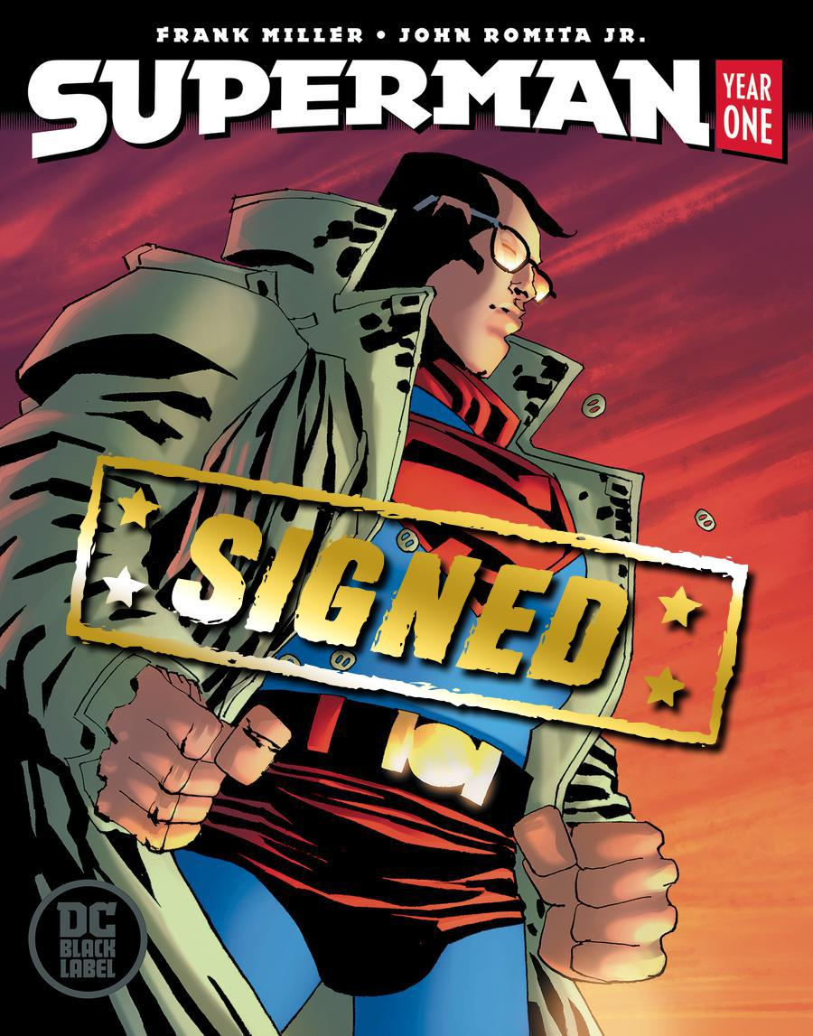 Superman Year One #2 Cover D Variant Frank Miller Cover Signed By John Romita Jr