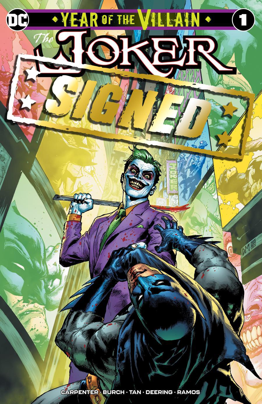 Joker Year Of The Villain #1  Midtown Exclusive Doug Mahnke Variant Cover Signed By Doug Mahnke