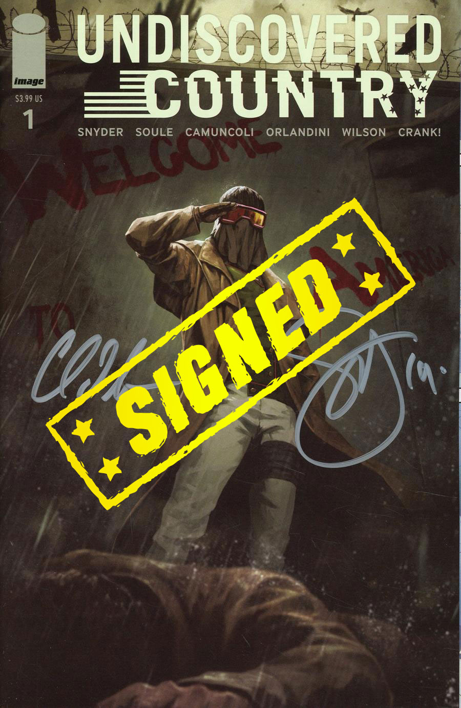 Undiscovered Country #1  Midtown Exclusive Cover C Skan Variant Cover Signed By Charles Soule & Scott Snyder