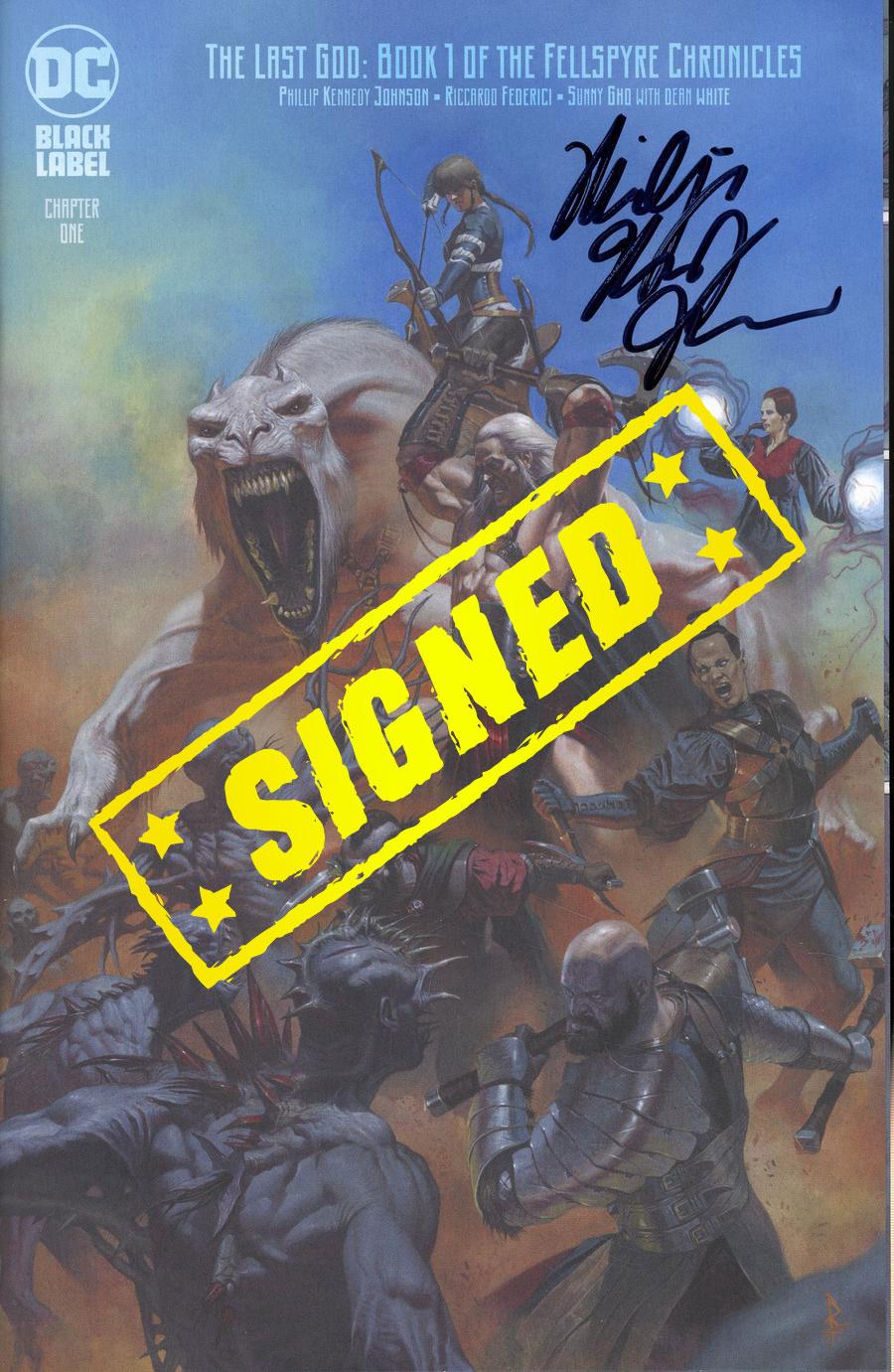 Last God #1 Cover D Variant Riccardo Federici Card Stock Cover Signed By Phillip Kennedy Johnson