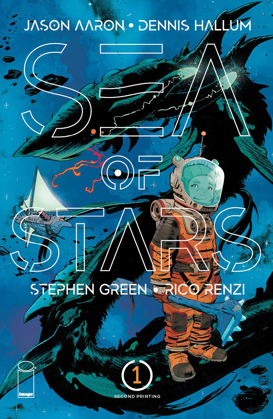 Sea Of Stars #1 Cover C 2nd Ptg Variant Stephen Green Cover