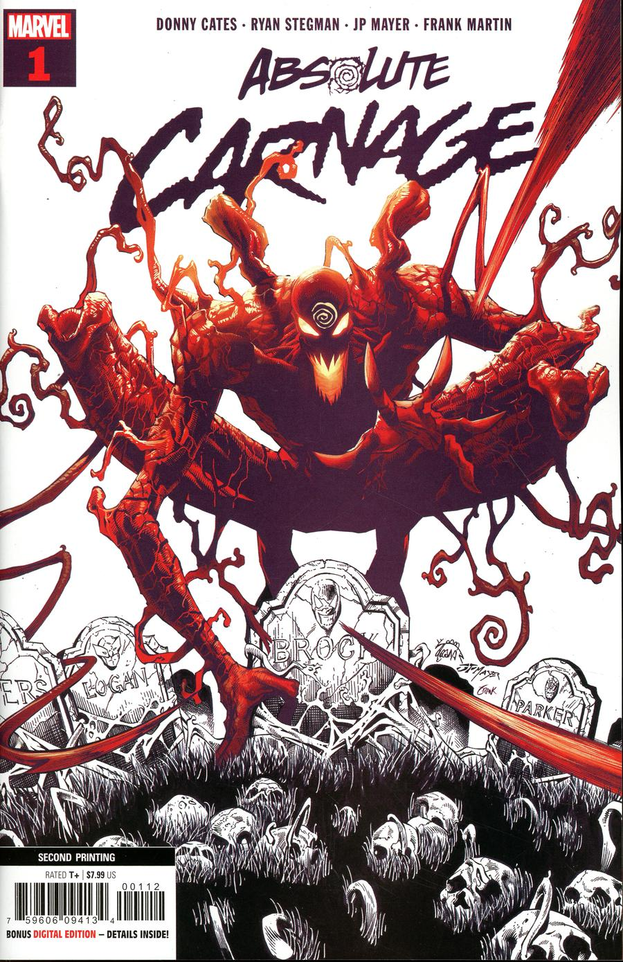 Absolute Carnage #1 Cover T 2nd Ptg Variant Ryan Stegman Cover