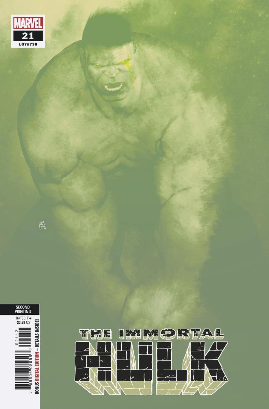 Immortal Hulk #21 Cover B 2nd Ptg Variant Andrea Sorrentino Cover