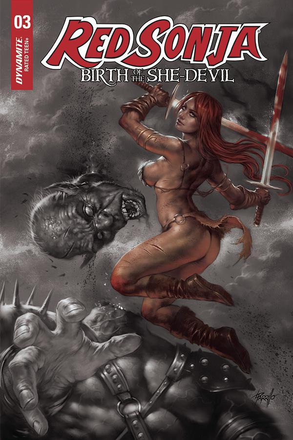 Red Sonja Birth Of The She-Devil #3 Cover E Incentive Lucio Parrilo Hue Variant Cover