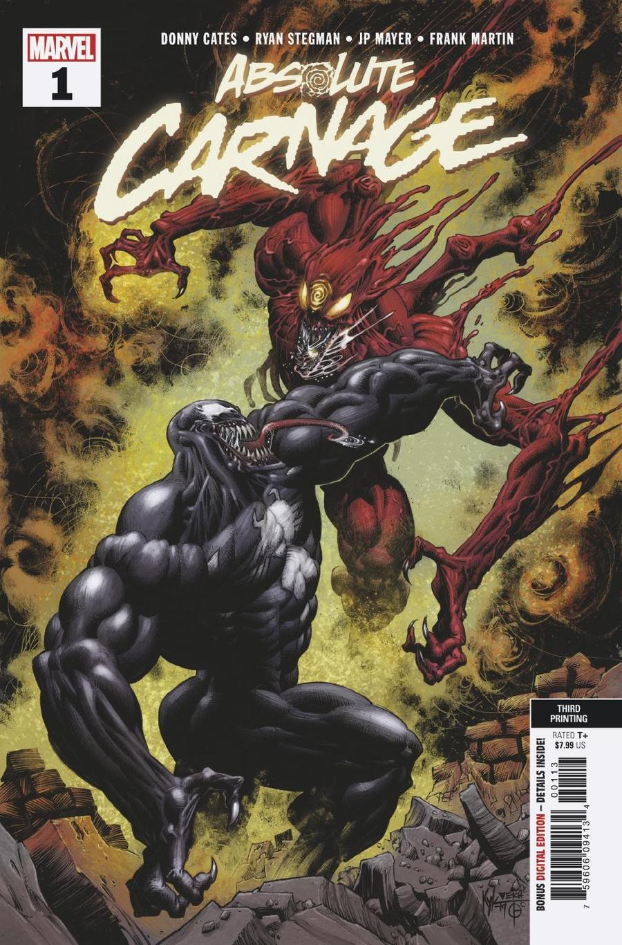 Absolute Carnage #1 Cover U 3rd Ptg Variant Kyle Hotz New Art Cover